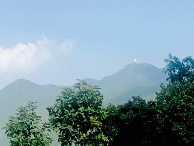 The Parasnath tonk  visible from far off on our way to shikerji