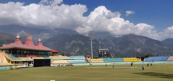 The  HPCA cricket stadium in Dharamshala